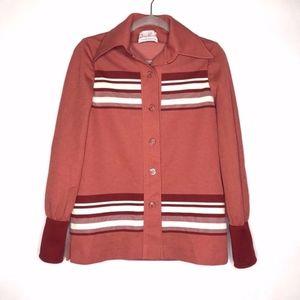 Vintage James Kenrob 70s Stripe Jacket Top